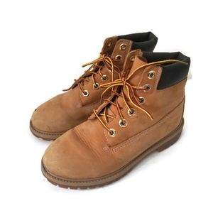 Timberland boots boys camel suede sz 4